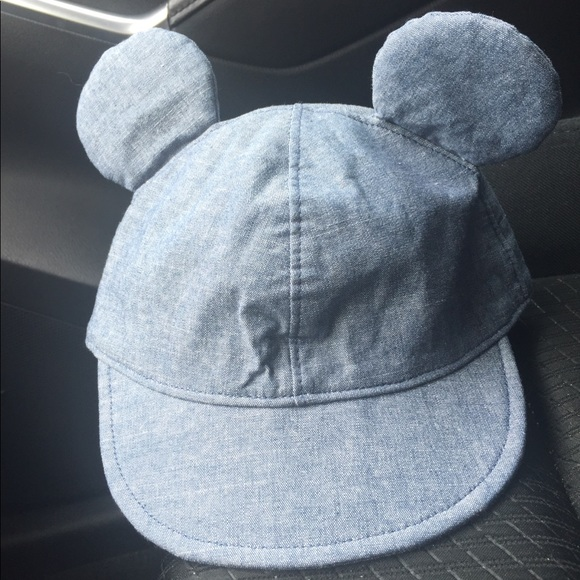 GAP Other - Baby Gap Disney Mickey Mouse Denim Hat 6-12m 9e66b9721fe6